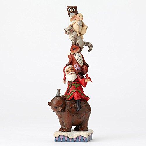 Enesco Jim Shore HWC Stacked Santa W/ Woodland Animals Figurine (Stacked Animals)