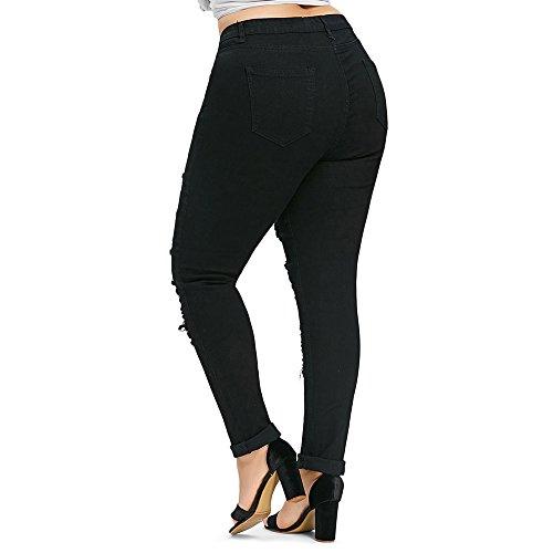 Pantalone Nero Pants Pantaloni Tasche Brandelliaderenti Jeans Moda 2018 Cinque Stretti Blu Women A Elasticizzati Estate Rosso Size Plus Donna 1OwU0A