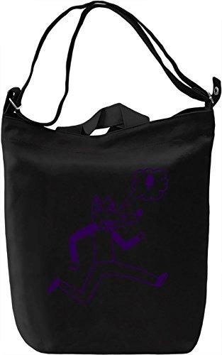 Doodle wolf Borsa Giornaliera Canvas Canvas Day Bag  100% Premium Cotton Canvas  DTG Printing 