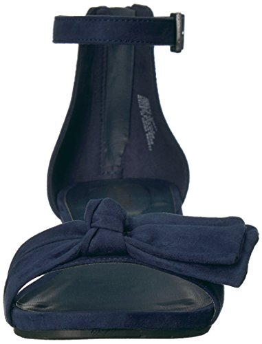 Kenneth Cole REACTION Women's Great Start Low Bow Detail Microsu Wedge Sandal Navy wwMT4p58