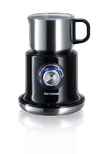 Severin SM 9688 Milchaufschäumer, (500 Watt, Induktion, 700 ml, kaltes und warmes Aufschäumen, stufenloses Erwärmen) Edelstahl/schwarz
