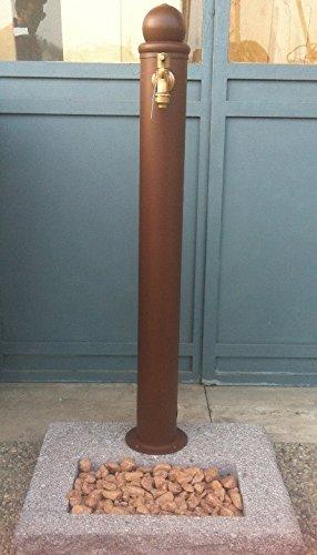 Fontanella giardino khko colonna duacqua mm in acciaio for Colonne da giardino
