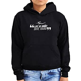 Life is short dive hard scuba diving Women Hoodie