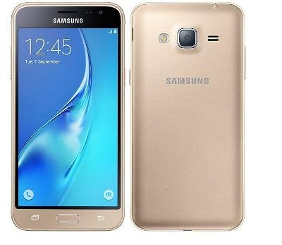 Samsung Galaxy J3 (2016) Duos SM-J320H/DS 8GB Dual SIM Unlocked GSM Smartphone - International Version, No Warranty (Gold) (Samsung Y Duos)