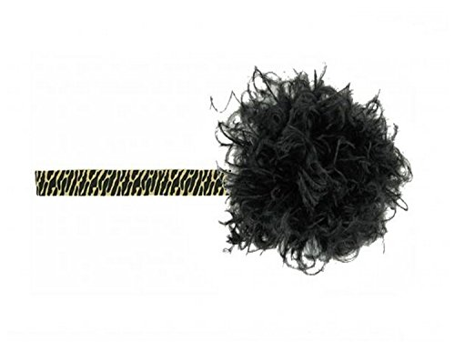 (Leopard Flowerette Burst with Black Small Curly Marabou, Size: 4-12y)