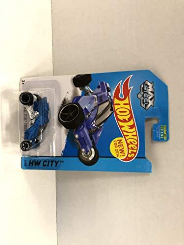 - MAX STEEL TURBO RACER (blue) 2014 Hot Wheels HW CITY 86/250 diecast