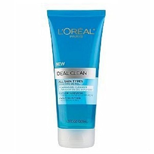 Clean Foaming Gel Cleanser (NEW L'Oreal Ideal Clean All Skin Types Foaming Gel Cleanser 6.8Fl oz)