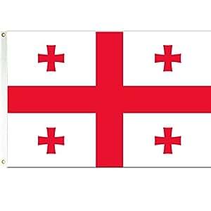 3x 5el país de Georgia bandera Georgia Banner Pennant nuevo