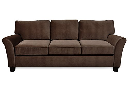 SoFab-Muse-II-Three-Seat-Sofa-with-Reversible-Seat-Cushions-Back-Pillows-Plus-Two-Reversible-Accent-Pillows-all-in-a-Pet-Approved-Kid-Friendly-Chocolate-Chenille-Polyester-Fabric