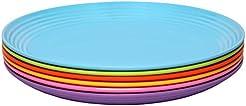Melange 6-Piece Melamine Salad Plate Set (Solids Collection)   Shatter-Proof  sc 1 st  Amazon.com & Amazon.com: Melamine - Plates / Dining u0026 Entertaining: Home u0026 Kitchen