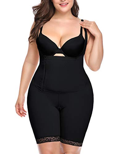 Women Full Body Shaper Tummy Control Seamless Slimming Shapewear Bodysuit Butt Lifter Slimmer Plus Size