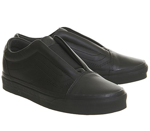 Vans Old Skool Laceless Black Mono Leather MXOJd