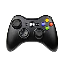 JAMSWALL Xbox 360 Wireless Controller,2.4GHZ Game Controller Gamepad Joystick Xbox & Slim 360 PC Windows 7,8,10(Black)