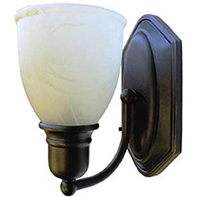 LaSalle Bristol 410131601744RT Globe Wall Sconce W/Alabaster: Automotive