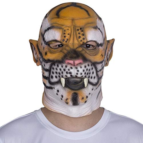 Farm Heroes Saga Halloween (PKRISD Creepy Horse Tiger Unicorn Dog Rubber Animal Mask Latex Party Panda Animal Mask Kids Party Halloween Masquerade Mask)