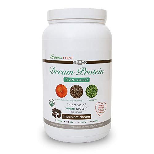Greens First® Dream Protein Plant Based - USDA Organic Dietary Supplement - Vegan Protein Powder - Nutritional Supplement - Chocolate - 30 Servings