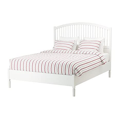 Amazon.com: Ikea Bed frame, white, Queen size Luroy 26382.172329.182 ...