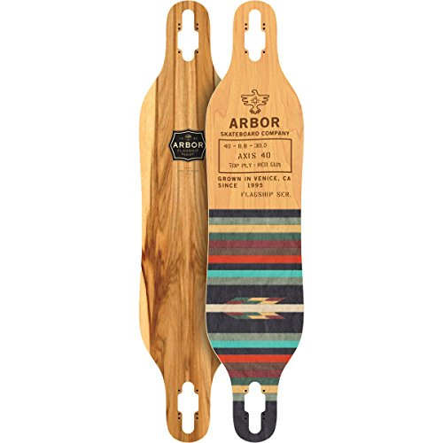 "Price comparison product image Arbor Axis 40 Flagship Skateboard Deck, Red Gum, 40"" x 8.75"" x 30.50"""