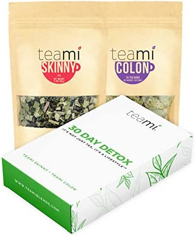 Teami 30-Day Detox Tea Pack: All-Natural Teatox Kit with Teami Skinny & Teami Colon Cleanse Loose Leaf Herbal Teas