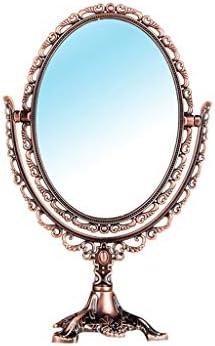 バスルームのためのクラシックヴィンテージ古代の彫刻が施されたダブルサイドミラー、化粧鏡、シェービング用ミラー、バニティミラーベスト W1XX (Color : B)