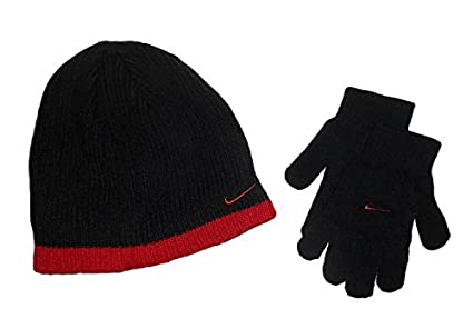 4939c018ee0 Image Unavailable. Image not available for. Color  Nike Boys Rib Knit Hat  and Glove Set ...