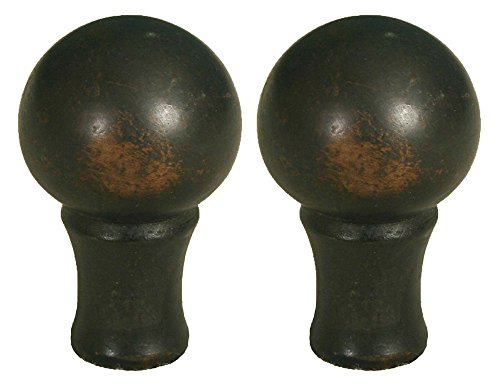 Royal Designs Small Ball Lamp Finial for Lamp Shade- Antique Bronze Set of - Finial Brass Antique Shaped Lamp