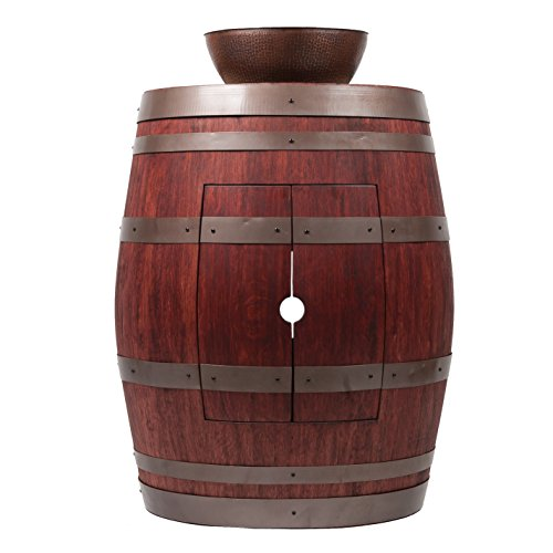 (Premier Copper Products Wine Barrel Cabernet Finish Vanity Package with 13-inch Round Vessel Sink )