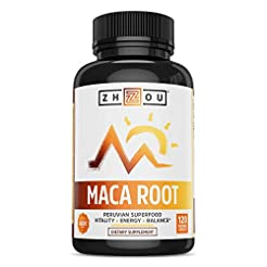 Zhou Nutrition Maca Root Capsules with B...