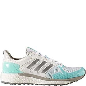 adidas Performance Women's Supernova ST w Running Shoe, White/Metallic Silver/Energy Aqua, 8 Medium US