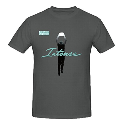 Armin Van Buuren Intense Graphic T Shirts For Men Crew Neck Grey