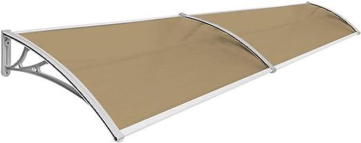 Vordach Haust/ür Terrassent/ür /Überdachung Haust/ürdach Pultvordach Alu Kunststoff Braun 100 x 80 cm V2Aox