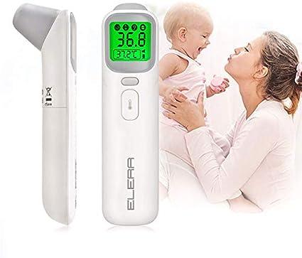 KADDGN Termómetro para bebés Infra Digital del Cuerpo del LCD Medición oído de la Frente sin Contacto Cuerpo Adulto Niños IR