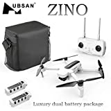 Sonmer Foldable Drone with 4K Camera+Double Battery, Hubsan Zino H117S WIFI FPV Foldable Quadcopter with Altitude Hold Mode Headless Mode and GPS One Key Return Home