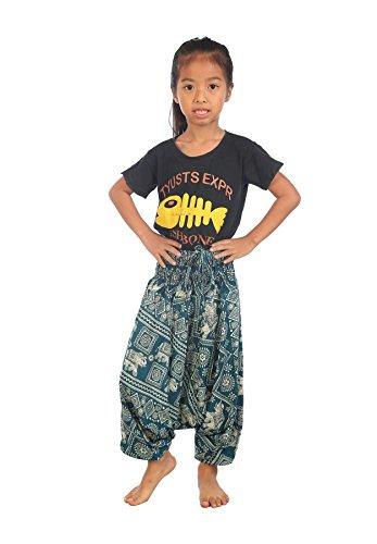 Lofbaz Baby Infant Harem Aladdin Elephant Child Pants Bohemian Hippy Teal Green Size 12M -