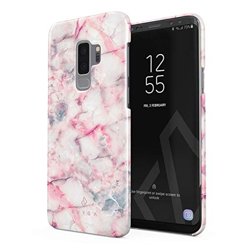 Slim Candy Raspberry - BURGA Phone Case Compatible with Samsung Galaxy S9 Plus Raspberry Jam Pink Candy Marble Thin Design Durable Hard Plastic Protective Case