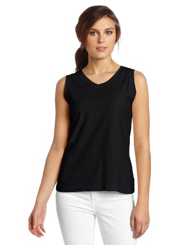Champion Women's Favorite V-Neck Tank, Black, X-Large