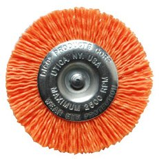 Dico 541-778-4 Nyalox Wheel Brush 4-Inch Orange 120 Grit