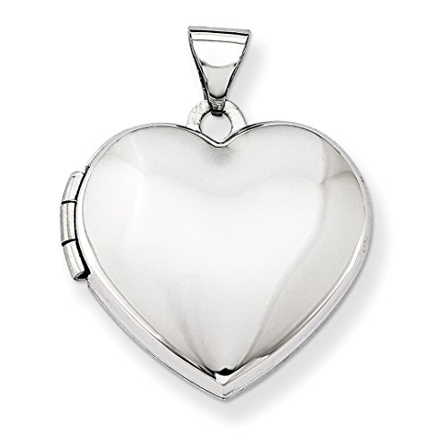 ICE CARATS 14kt White Gold Domed Heart Photo Pendant Charm Locket Chain Necklace That Holds Pictures Fine Jewelry Ideal Gifts For Women Gift Set From Heart 14kt Gold Domed Heart Locket