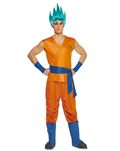 Spirit Halloween Adult Goku Costume - Dragon Ball Z Resurrection (Dragon Ball Z Wig)