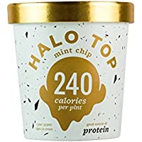 Halo Top, Mint Chip Ice Cream, Pint (Pack of 8)