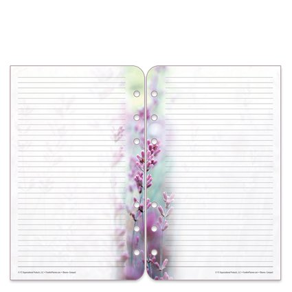 Compact Floral Blooms Lined Pages