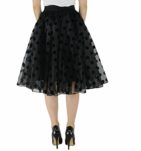 443cc15a4d YSJERA Lady's Organza Princess Skirt Bowknot A Line Pleated Midi/Knee  Length Tutu Party Skirts