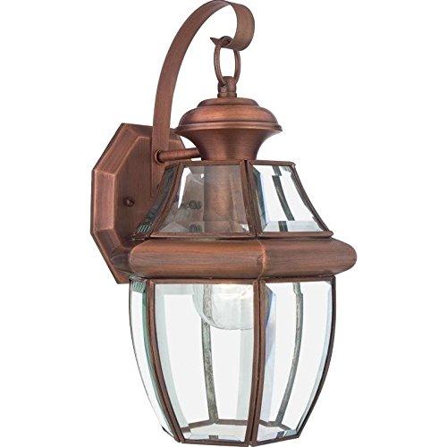 Atlin Designs Medium Wall Lantern in Aged Copper