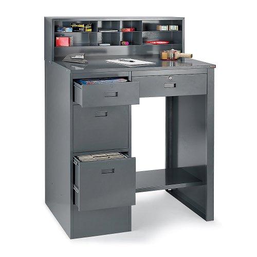 RELIUS SOLUTIONS Deluxe Pedestal Shop Desk - 39x283/4x551/2