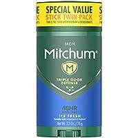 Mitchum Twin Pack of 2.70Oz. Men Antiperspirant & Deodorant Stick