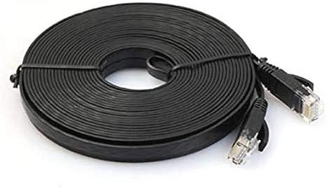 Cable Length: 5m, Color: Black 1m Cables Network Cable RJ45 LAN Patch Lead Flat Cat6 Ethernet Modem Router Black
