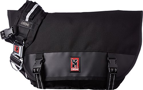 Chrome BG-001-BKBK Black One Size Mini Metro Messenger Bag C