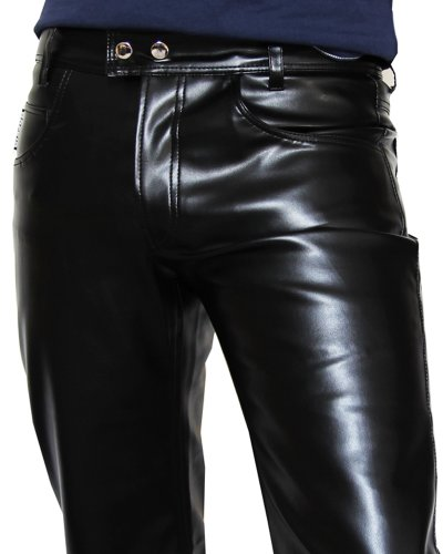bockle hot6 men faux leather pants trousers jeans 5. Black Bedroom Furniture Sets. Home Design Ideas