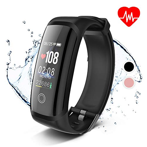 Fitness Tracker,Smart Watch with Heart Rate Monitor,Waterproof IP67 Activity Tracker with Step Calorie Counter,Pedometer Smart Bracelet Band for Kids Men and Women