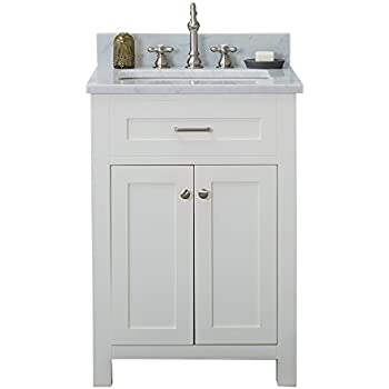 Alya Bath HE 101 24 W CWMT Norwalk Single Bathroom Vanity With